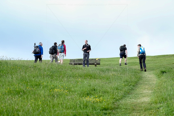 JURASSIC COAST CHALLENGE WALK AT PURBEK HILLS, SWANAGE, UK ON 13/06/2015