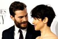 JAMIE DORNAN AND AMELIA WARNER  ATTENDS 50 SHADES OF GREY UK PREMIERE AT ODEON LEICESTER SQUARE, LONDON, UK ON 12/02/2015