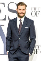 JAMIE DORNAN ATTENDS 50 SHADES OF GREY UK PREMIERE AT ODEON LEICESTER SQUARE, LONDON, UK ON 12/02/2015