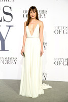 DAKOTA JOHNSON ATTENDS 50 SHADES OF GREY UK PREMIERE AT ODEON LEICESTER SQUARE, LONDON, UK ON 12/02/2015