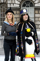 NOEL FIELDING ATTENDS HATS OFF TO ISABELLA BLOW AT SOMERSET HOUSE, LONDON, UK ON 01/12/2013