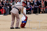 HRH THE PRINCE OF WALES ATTENDS  THE NATIONAL COMMEMORATION AND DRUMHEAD SERVICE  AT HORSE GUARDS PARADE, LONDON, UK ON 15/08/2015