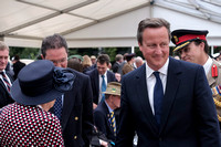 THE RT HON DAVID CAMERON MP, THE PRIME MINISTER ATTENDS  THE NATIONAL COMMEMORATION AND DRUMHEAD SERVICE  AT HORSE GUARDS PARADE, LONDON, UK ON 15/08/2015
