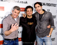 THE PAZ BROTHERS WITH PRODUCER SHAKED BERENSON ATTENDS FRIGHTFES