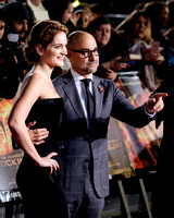 STANLEY TUCCI & HIS WIFE FELICITY BLUNT  ATTENDS UK PREMIERE OF THE HUNGER GAMES: MOCKINGJAY - PART 2 AT ODEON LEICESTER SQUARE, ,  ON 05/11/2015