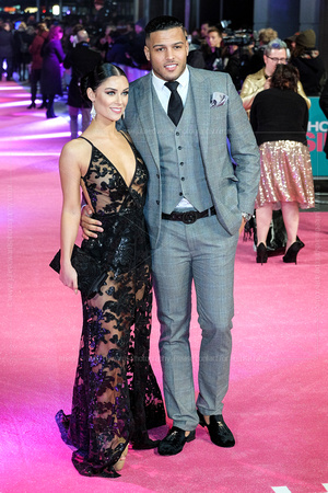"CALLY JANE BEECH AND LUIS MORRISON ATTENDS EUROPEAN PREMIERE OF ""HOW TO BE SINGLE"" AT THE VUE WEST END, LONDON, UK ON 09/02/2016"