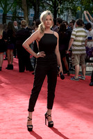 LAURA WHITMORE ATTENDS WORLD PREMIERE OF THE EXPENDABLES 3 AT ODEON LEICESTER SQUARE, LONDON, UK ON 04/08/2014