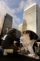 THE LONDON ICE SCULPTING FESTIVAL  AT CANARY WHARF, LONDON, UK ON 10/01/2014