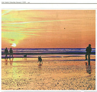 The Times 03/01/2015 Worthing Beach Sunset
