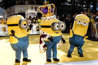 MINIONS - KING BOB, KEVIN AND STUART ATTENDS THE WORLD PREMIERE OF 'MINIONS'  AT ODEON LEICESTER SQUARE, LONDON, UK ON 11/06/2015