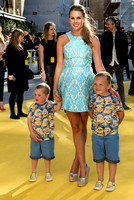 DANIELLE LLOYD ATTENDS THE WORLD PREMIERE OF 'MINIONS'  AT ODEON LEICESTER SQUARE, LONDON, UK ON 11/06/2015