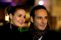 ALEXANDRE DESPLAT (COMPOSER) WITH HIS DAUGHTER  ATTENDS UK PREMIERE OF RISE OF THE GUARDIANS AT THE EMPIRE LEICESTER SQUARE, LONDON, UK ON 15/11/2012