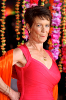 CELIA IMRIE ATTENDS THE ROYAL FILM PERFORMANCE: THE WORLD PREMIERE OF THE SECOND BEST EXOTIC MARIGOLD HOTEL AT ODEON LEICESTER SQUARE, LONDON, UK ON 17/02/2015