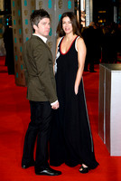 NOEL GALLAGHER AND SARA MACDONALD ATTENDS EE BRITISH ACADEMY FILM AWARDS ARIVALS AT ROYAL OPERA HOUSE, LONDON, UK ON 08/02/2015