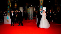 CLAIRE FORLANI ATTENDS EE BRITISH ACADEMY FILM AWARDS ARIVALS AT ROYAL OPERA HOUSE, LONDON, UK ON 08/02/2015