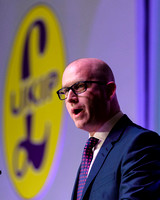 PAUL NUTTALL ATTENDS UKIP SPRING CONFERENCE AT WINTER GARDENS, MARGATE, UK ON 27/02/2015