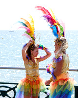 BRIGHTON AND HOVE'S PRIDE PARADE AT SEAFRONT, BRIGHTON, UK ON 01/08/2015