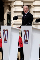 CHARLES DANCE ATTENDS  THE NATIONAL COMMEMORATION AND DRUMHEAD SERVICE  AT HORSE GUARDS PARADE, LONDON, UK ON 15/08/2015