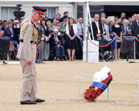 The National Commemoration And Drumhead Service on 15/08/2015 At Horse Guards Parade