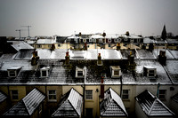 COLD WEATHER AND SNOW AT SEAFRONT, WORTHING, UK ON 20/01/2013