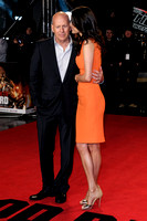 BRUCE WILLIS, ACTOR ATTENDS UK PREMIERE OF A GOOD DAY TO DIE HARD AT THE EMPIRE LEICESTER SQUARE, LONDON, UK ON 07/02/2013