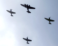 BATTLE OF BRITAIN: HISTORIC FLYPAST FOR 75TH ANNIVERSARY. SEAFRONT, WORTHING, UK ON 15/09/2015
