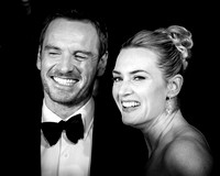 Kate Winslet and Michael Fassbender arrives on the red carpet for the London Film Festival closing gala screening and UK premiere of Steve Jobs