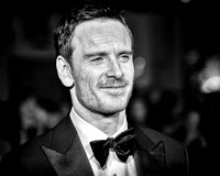 Michael Fassbender  arrives on the red carpet for the London Film Festival closing gala screening and UK premiere of Steve Jobs