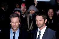 GERARD BUTLER AND AARON ECKHART ATTEND EUROPEAN PREMIERE OF OLYMPUS HAS FALLEN AT BFI IMAX, LONDON, UK ON 03/04/2013