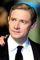 MARTIN FREEMAN ATTENDS 65TH ROYAL FILM PERFORMANCE AND UK PREMIERE OF THE HOBBIT: AN UNEXPECTED JOURNEY AT LEICESTER SQUARE, LONDON, UK ON 12/12/2012