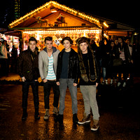 UNION J ATTENDS OPENING NIGHT OF HYDE PARK WINTER WONDERLAND 2012 AT HYDE PARK, LONDON, UK ON 22/11/2012