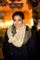 DIONNE BROMFIELD ATTENDS OPENING NIGHT OF HYDE PARK WINTER WONDERLAND 2012 AT HYDE PARK, LONDON, UK ON 22/11/2012