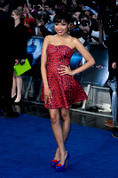 DIONNE BROMFIELD ATTENDS EUROPEAN PREMIERE FOR MAN OF STEEL AT EMPIRE AND ODEON LEICESTER SQUARE, LONDON, UK ON 12/06/2013