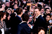 Tom Hiddleston arrives on the red carpet for the London Film Festival screening of {suppcat3}