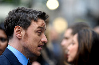 JAMES MCAVOY ATTENDS X-MEN: DAYS OF FUTURE PAST UK PREMIERE AT ODEON LEICESTER SQUARE, LONDON, UK ON 12/05/2014