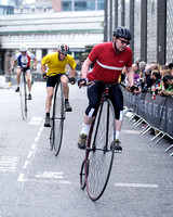 BROOKS PENNY FARTHING RACE AT THE IG LONDON NOCTURNE  AT SMITHFIELD MARKET, LONDON, UK ON 08/06/2013