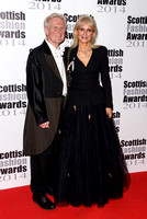 ANNE FERGUSON AND TAYLOR FERGUSON ATTENDS SCOTTISH FASHION AWARDS AT 8 NORTHUMBERLAND, LONDON, UK ON 01/09/2014