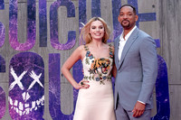 Margot Robbie, Will Smith at The European Premiere Of Suicide Squad