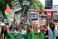 STOP THE WAR, GAAZA, PROTEST, MARCH, POLITICS, STOP THE WAR COALITION, PALESTINE ATTENDS GAZA NATIONAL DEMONSTRATION AT DOWNING STREET, LONDON, UK ON 19/07/2014