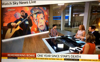 Sky News 10/01/2016  David Bowie Tribute