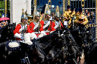 Household Cavalry (HCav) form up outside Buckingham Palace