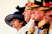 The Queen and The Duke of Edinburgh formally welcome His Majesty King Felipe VI of Spain at Horse Guards Parade on Wednesday 12/07/2017