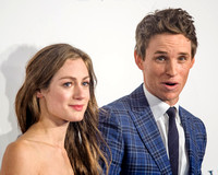 EDDIE REDMAYNE AND HANNAH BAGSHAWE ATTENDS UK PREMIERE OF THE THEORY OF EVERYTHING AT ODEON LEICESTER SQUARE, LONDON, UK ON 09/12/2014