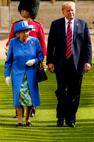The Queen with the President of the United States of America Donald Trump