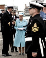 Her Majesty The Queen, The Duke of Lancaster and Sponsor of the ship, visits HMS LANCASTER at Portsmouth, on Tuesday, 20th May 2014