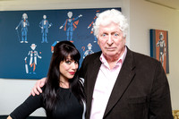 TOM BAKER ATTENDS LAUNCH FOR THE HORROR CHANNEL SEASON OF DOCTOR WHO AT THE IVY CLUB, LONDON, UK ON 14/04/2014