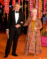 DAME JUDI DENCH ATTENDS THE ROYAL FILM PERFORMANCE: THE WORLD PREMIERE OF THE SECOND BEST EXOTIC MARIGOLD HOTEL AT ODEON LEICESTER SQUARE, LONDON, UK ON 17/02/2015