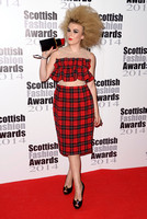 TALLIA STORM ATTENDS SCOTTISH FASHION AWARDS AT 8 NORTHUMBERLAND, LONDON, UK ON 01/09/2014