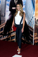 LAUREN POPE ATTENDS UK PREMIERE OF ANCHORMAN 2: THE LEGEND CONTINUES AT VUE LEICESTER SQUARE, LONDON, UK ON 11/12/2013