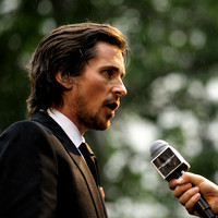 Christian Bale attends the European Premiere of The Dark Knight Rises
